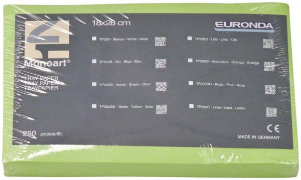 Monoart® Traypapier für Normtrays